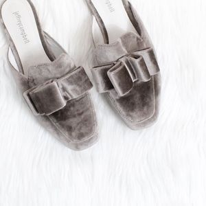 JEFFREY CAMPBELL Ravis Mule in Grey Velvet